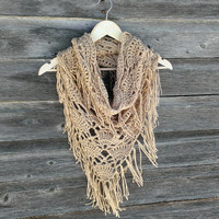 Triangle Cowl Oversized Crochet Bandana Cowl, several color options by Lulu Belle Designs