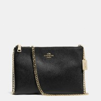 ZIP TOP CROSSBODY IN LEATHER