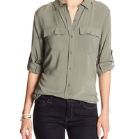 Banana Republic Womens Factory Military Shirt