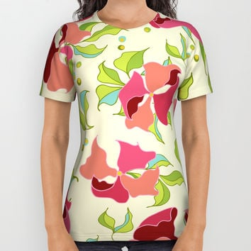 Power Flowers – Spring All Over Print Shirt by M-ohlala