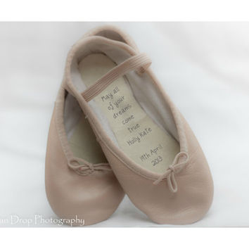 Personalized new baby gift, New baby keepsake, New baby girl, New baby gift, Unique keepsake, Baby keepsake, Ballet shoes, Baby girl