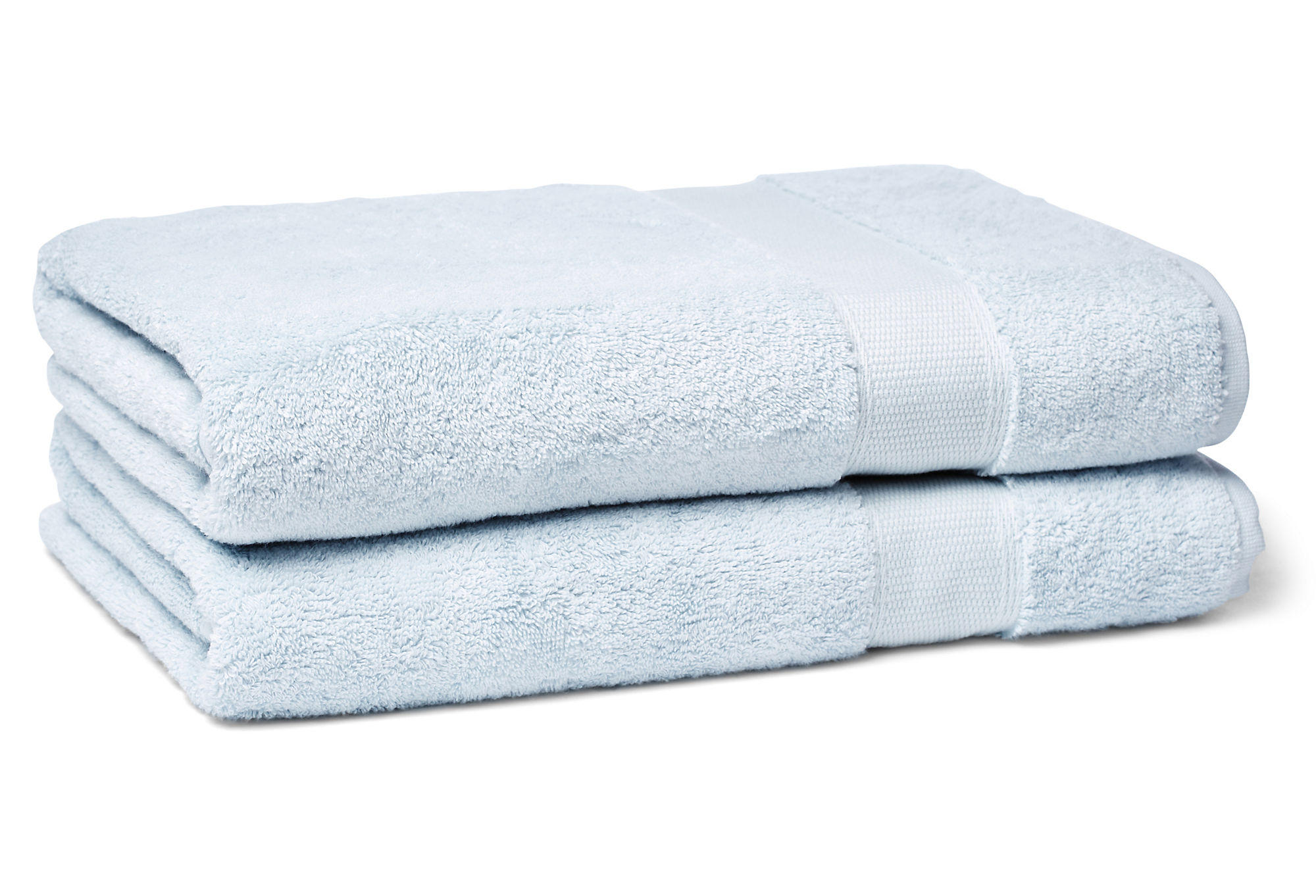 Light Blue Turkish Cotton Bath Towel From One Kings Lane