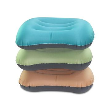 Inflatable Air Neck Nap Pillow for Sleeping in Tent Picnic Mat Travel Camp Pillows Office Airplane Car Lumbar Support Cushion