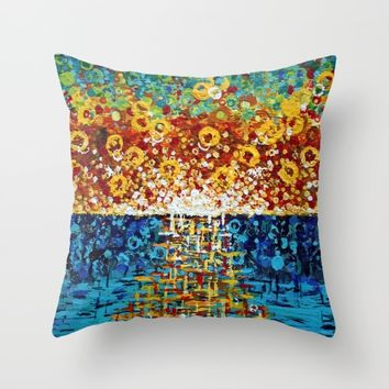 :: Confetti Sunrise :: Throw Pillow by :: GaleStorm Artworks ::