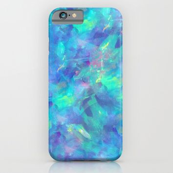 BLUE OPAL iPhone & iPod Case by Oksana Smith