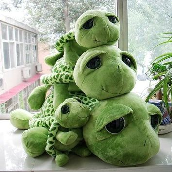 18-80 cm new arrived cartoon Big eyes green turtle plush toy tortoise Wedding dolls child gift cushion birthday pillow big size