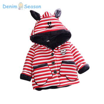 DenimSeason 2017 Winter Baby Clothing Baby Coat Casaco Infantil Baby Poncho Baby Boys Clothes Ropa Bebe Cashmere Fur Girls Coat