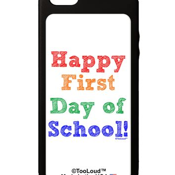 Happy First Day of School iPhone 5C Grip Case  by TooLoud