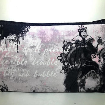 Disney Villains Cosmetic Bag | Zipper Pouch | Toiletry Bag | Pencil Case | Gifts for Her | Makeup Bag
