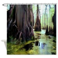 Swamp People Shower Curtain> Tropical> Tropical Design Studio