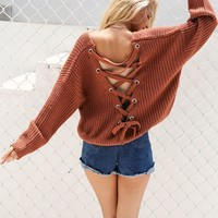 Back-Laced Sweater