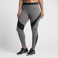 The Nike Pro HyperWarm (Plus Size) Women's Training Tights.