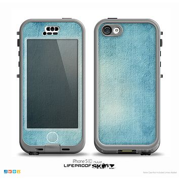 The WaterColor Blue Texture Panel Skin for the iPhone 5c nüüd LifeProof Case
