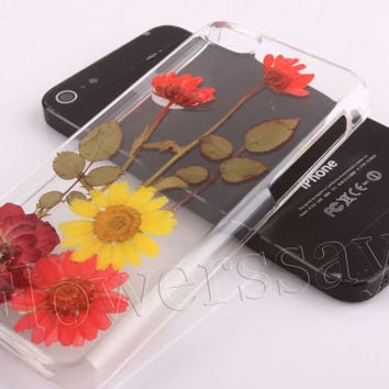 iPhone 6 case iPhone 6 plus Pressed Flower, iPhone 5/5s case, iPhone 4/4s case,  5c case Galaxy S4 S5 Note 2 note 3 Real Flower case NO:F72