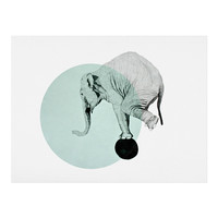 Morgan Kendall blue elephant Art Print