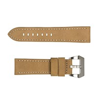 Army Sports Watch Strap Replacement with Stainless Steel Buckle Waterproof Genuine Leather Watch Bands Accessories