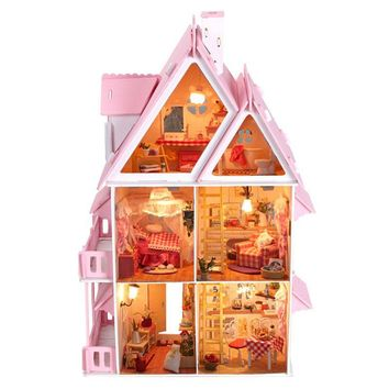 BOHS Sun Alice Presents Villa Wooden Dollhouse DIY Kit
