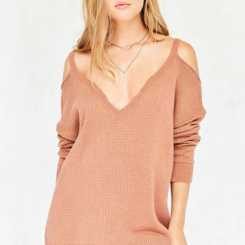 Kimchi Blue Kia Deep-V Cold Shoulder Sweater - Urban Outfitters