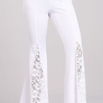 Ponte Roma Lace Bell Bottom