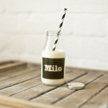 Personalised Vintage School Milk Bottle