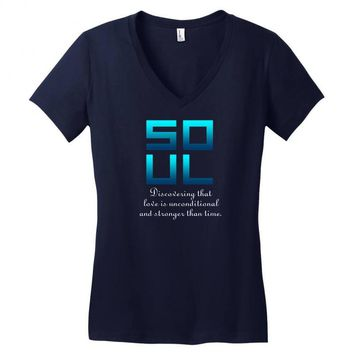 Soul (Soul + Mate Couples Design) Women's V-Neck T-Shirt