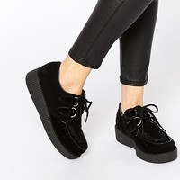 Truffle Collection | Truffle Lace Up Creeper Shoes at ASOS