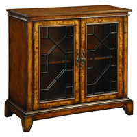 Cresthill Brown Two Door Glass Cabinet