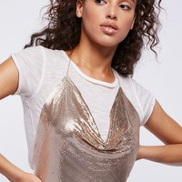 Free People Chainmail Halter Top