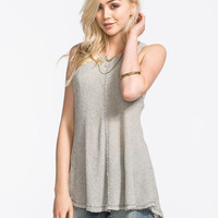 Blu Pepper Knit Tank Grey  In Sizes
