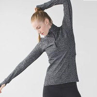Lululemon Zipper Fashion Sport Running Long Sleeve Tunic Shirt Top Blouse