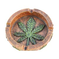 Marijuana Pot Leaf Weed Ashtray - Cigar Ash tray