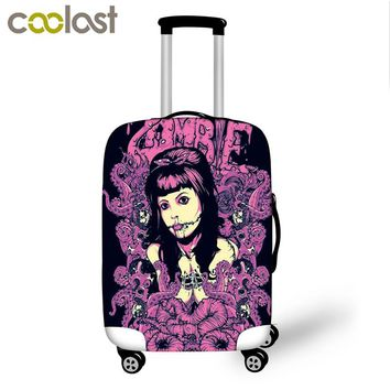 Unique Travel Suitcase Cover Cool Luggage Cover Fashion High Elastic Travel Dust Protective Covers For 18-28 Inch Suitcase