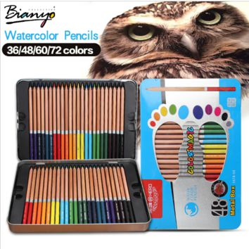 Water Color Pencils 36 48 60 72 Tin Box