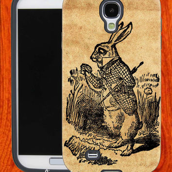 Alice In Wonderland Rabbit,Accessories,Case,Cell Phone,iPhone 4/4S,iPhone 5/5S/5C,Samsung Galaxy S3,Samsung Galaxy S4,Rubber,27-11-19-Hk