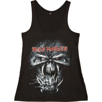 Iron Maiden Women's  Final Frontier Eddie Womens Tank Black Rockabilia