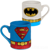 BATMAN & SUPERMAN MUG SET