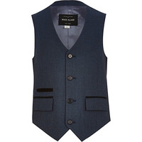 River Island Boys blue suit vest