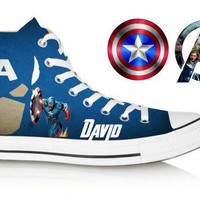 Birthday Custom Avengers Shoes (Captain America)
