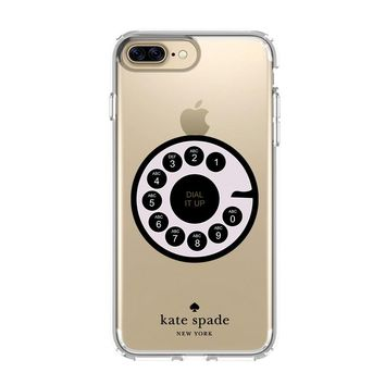 ROTARY DIAL UP KATE SPADE iPhone 4/4S 5/5S/SE 5C 6/6S 7 8 Plus X Clear Case