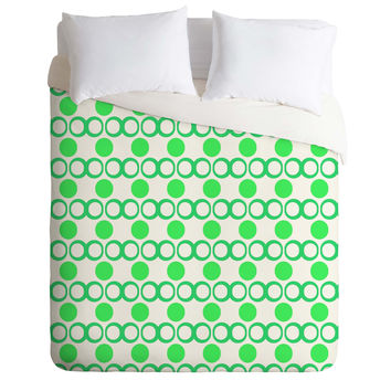 Lisa Argyropoulos Retrocity In Spearmint Duvet Cover