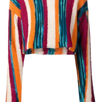 The Elder Statesman striped cropped sweater