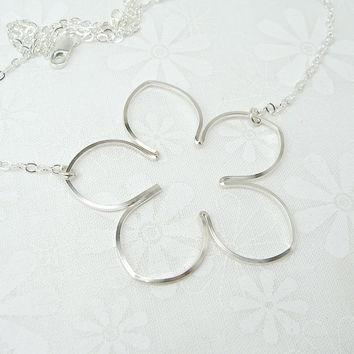 Blossom Silver Necklace