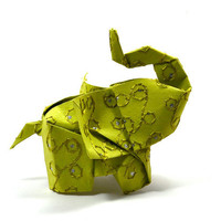 Elephant in the room No9 3D free style origami by JinniInTheLamp