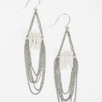 Crystal Chain Drop Earring - Urban Outfitters
