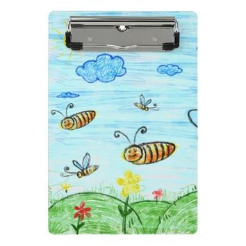 Blue Green Summer Doodles Mini Clipboard