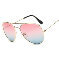 Free shipping New Fashion glasses Women Fashion Color Goggle Sunglasses Two kinds of color summer 7 colors glasses