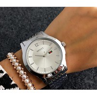 GUCCI tide brand men and women casual fashion watches F-Fushida-8899 Silver