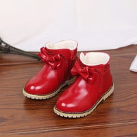 Children Cotton Winter Shoes Korean Butterfly Princess Boots [4920554692]