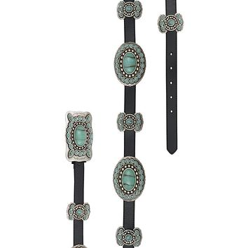 Cowgirl Kim 3-D Turquoise Butterfly Concho Belt