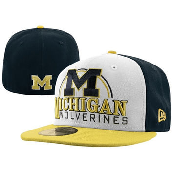 New Era Michigan Wolverines 59FIFTY Deluxe City Fitted Hat d464e91ce34